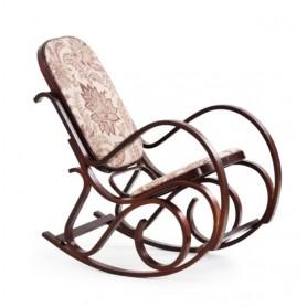 Masivna fotelja za ljuljanje tapecirana