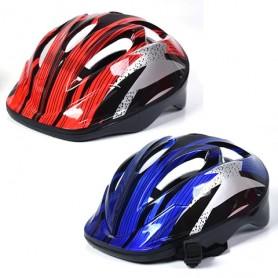 Dječja biciklistička kaciga plavo/crvena