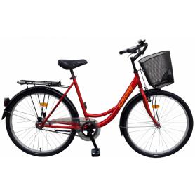 """Bicikl SPRING nožna kočnica TORPEDO/VELOSTEEL košara,26"""",crveni - C"""