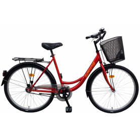 """Bicikl SPRING nožna kočnica TORPEDO/VELOSTEEL košara,26"""",crveni"""