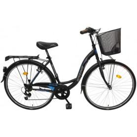 "Bicikl Spring Giulia 7/br-shim/TY-22,ženski,košara,28""crno plavi - C"