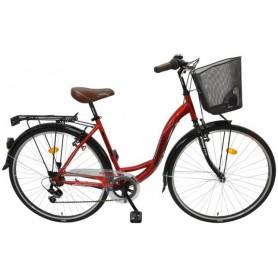 "Bicikl Spring Giulia 7/br-shim/TY-22,ženski košara,28""crveno crni - C"