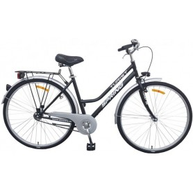 """Bicikl Spring ženski nožna kočnica Torpedo/velosteel,28"""",crni - C"""