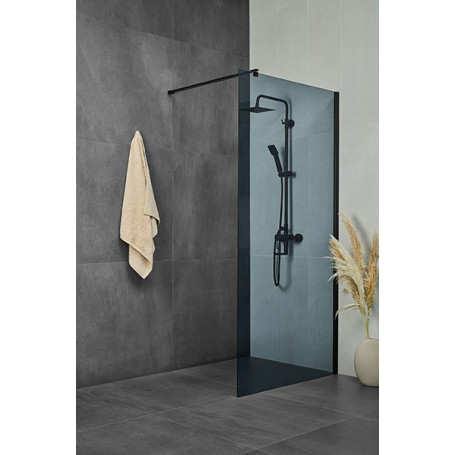 Vetro Black 80 shower panel