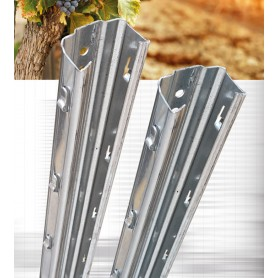 Metal galvanized fence post - h 1600 mm EXTRA