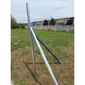 Support column - metal, galvanized - 38 x 2000 mm extra