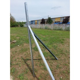 Support column - metal, galvanized - 60 x 2000 mm extra