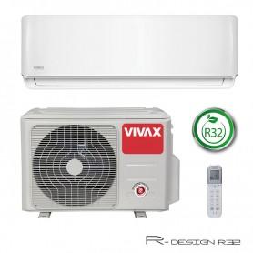 VIVAX COOL R-DESIGN inverterski klima uređaj 3,81kW ACP 12CH35AERI R32 biserno bijela