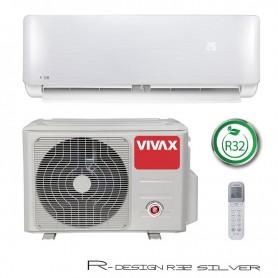 VIVAX COOL Air conditioner inverter R-DESIGN 3,52kW / 3,81kW ACP-12CH35AERI R32 SILVER