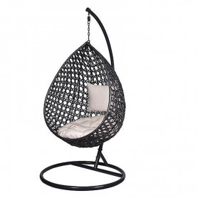 Jakarta rattan hanging seat, up to 150 kg with cushion