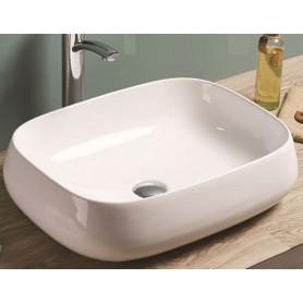 Mila surface-mounted ceramic washbasin 540x420x145 mm