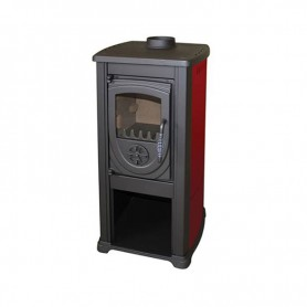 Bella Thalia wood burning stove - red