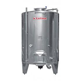 Vinificator-stainless steel wine fermenter with pourer 5000 lit.