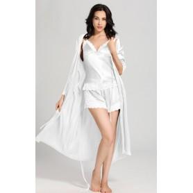 Svileni ženski set pidžama i dugi kućni ogrtač 22mm