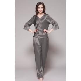 Svilena ženska duga pidžama sa posebno dizajniranim rukavima 22mm