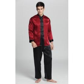 Svilena duga muška pidžama sa crnim donjim dijelom 22mm