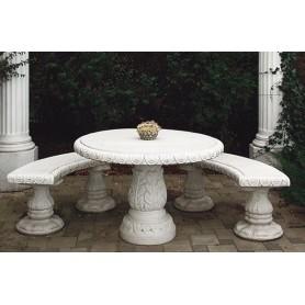 Table  d 107 cm, w 190 kg