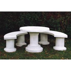 White cement Table d 98 cm, w 250 kg