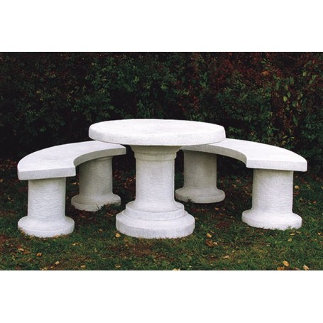White cement Table d 98 cm, w 250 kg