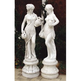 Statue color h 130 cm, w 95 kg