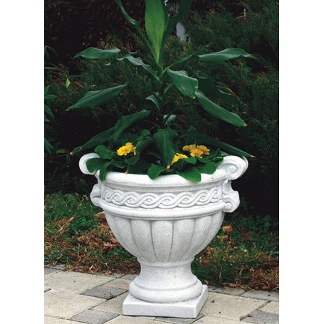 Jardiniere of white cement in 38 cm, 45 cm fi, t 20 kg