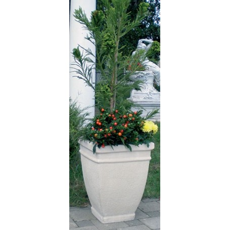 Jeste li mislili: Žardinjera štokana bijeli cement 40x40 cm, v 50cm, t 50 kg Jardiniere  white cement 40x40 cm, 50 cm, w 50 kg
