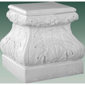 Pedestal h 27 cm, 27x27 cm, w 37 kg