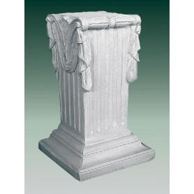 Pedestal ( white cement) h 73 cm, 45x45 cm, t 120 kg
