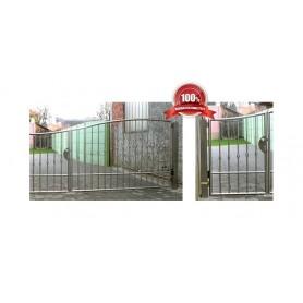 Ograda od inoxa Zeus-kolni i pješački ulaz