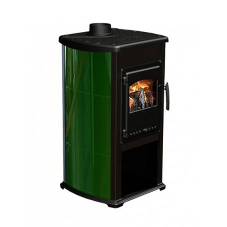 Bella Thalia wood burning stove - green