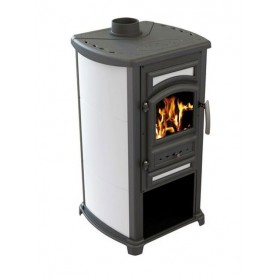 Thalia Forte wood burning stove - beige