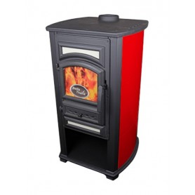 Thalia Forte wood burning stove - red