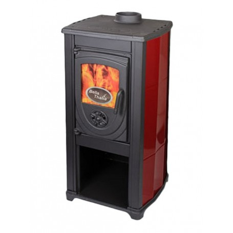 Thalia Okta wood burning stove - bordo