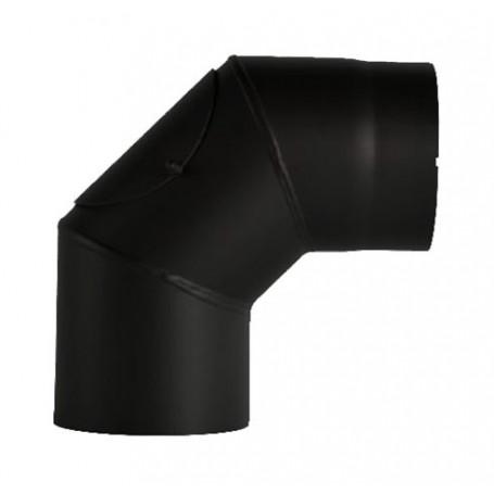 Dimovodno koljeno 2mm 90° trodjelno s otvorom fi130