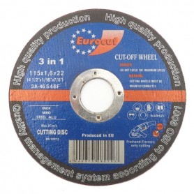 Rezna ploča za metal 115X1,6 Eurocut