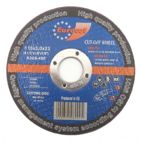 Cut-off wheel for metal 115X3,0 Eurocut