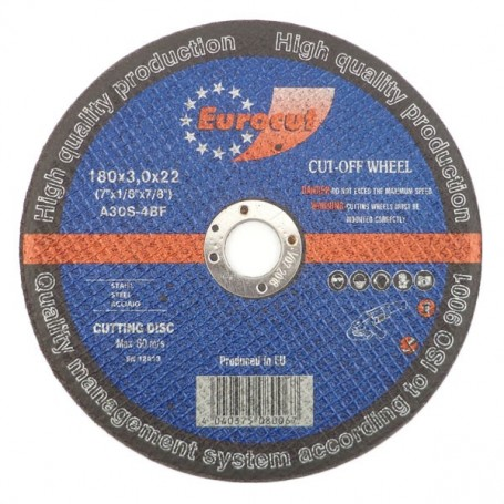 Cut-off wheel for metal 180X3,0 Eurocut
