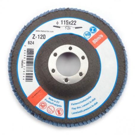 Lamelni brusni disk LBD 115X22 Z120 T29