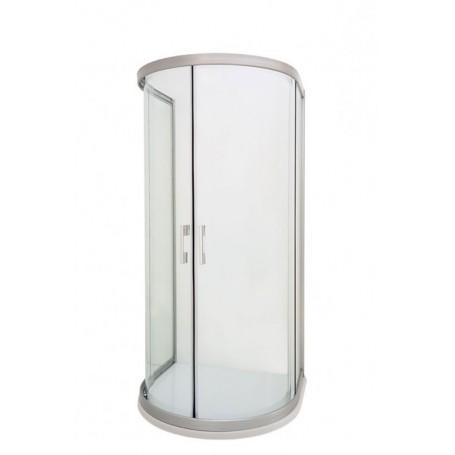 Oval - polukružna tuš kabina 90X100X195 cm