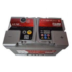 12V-74Ah plus D Fiamm Titanium pro battery