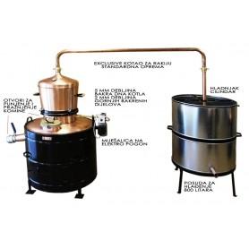 Ekskluziv 160 litara kotao za rakiju