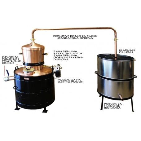 Exclusive distilling pot still 160 liters