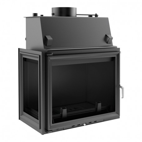 Amelia 24 kW-PW/BL/24/W fireplace for central heating