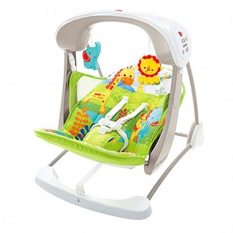 Prenosiva mini ljuljačka za bebe s uzorkom prašume - Fisher Price