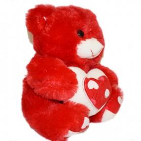 Plišana igračka medo 30 cm boja crvena