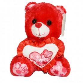 Plišana igračka medo 20 cm boja crvena