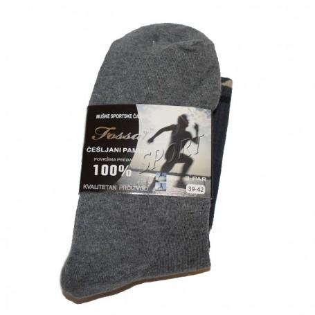 Muške čarape Fossaj raznih boja vel. 39-42, 3 para