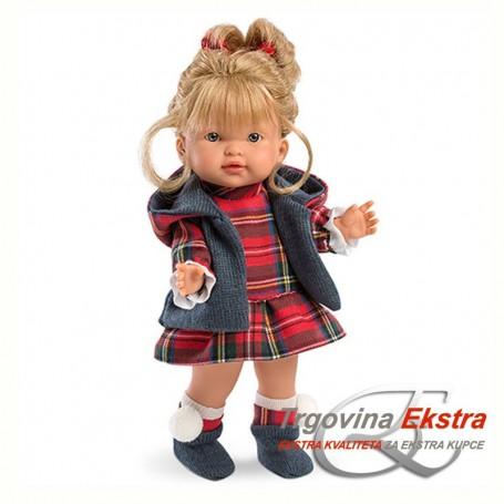 Lutka bebe u kariranoj haljinici - Llorens