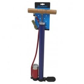 Ručna auto-bicikl pumpa chaky univerzalna metalna manometar av dv