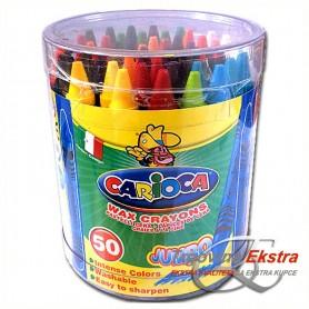 Veliki set masnih kreda - 50 kreda u boji